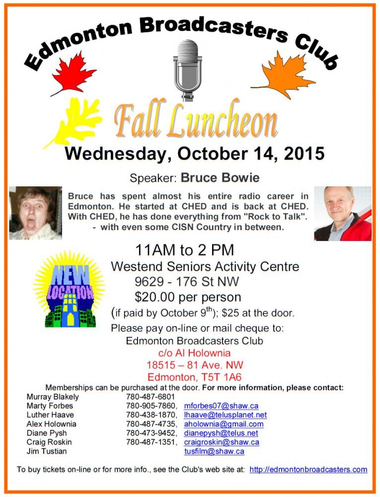 Fall 2015 Luncheon